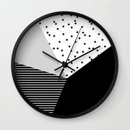 Geometry Blocks 10 Wall Clock