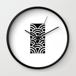 Seigaiha Wall Clock