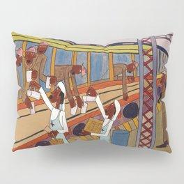 African American Masterpiece 'War Voyage - Bon Voyage' by William H. Johnson Pillow Sham