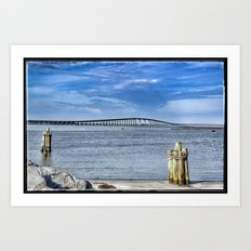 Bridge to sand and sea Art Print