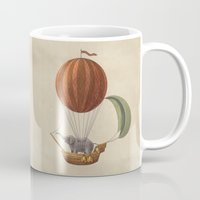 adventure Mugs featuring Adventure Awaits  by Terry Fan