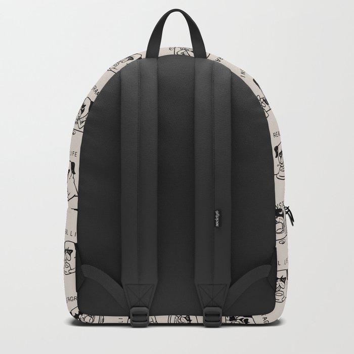 Instagram vs Real Life Backpack