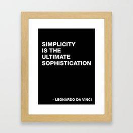 Leonardo da Vinci on Simplicity Quote Art Framed Art Print