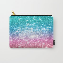 Mermaid Galaxy Sparkle Stars Carry-All Pouch