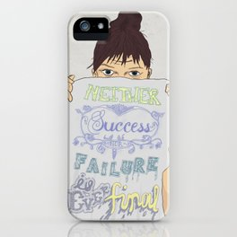Positive about Ambiguity iPhone Case