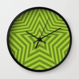 Stars - green vers. Wall Clock