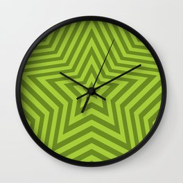 Stars - green vers. Wall Clock