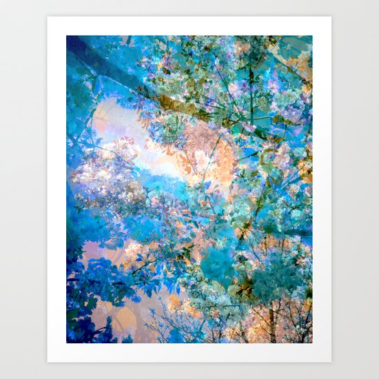 Blue Blossoms Art Print