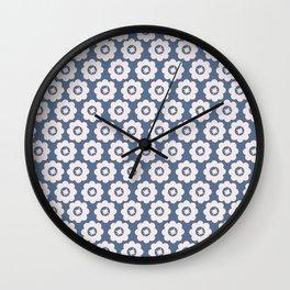 Vintage Blue Floral Wall Clock