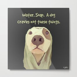 Yo-dog Bath Time Metal Print