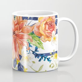 Orange bouquet pattern Coffee Mug