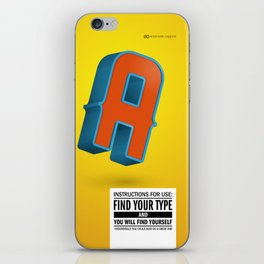 Find your TYPE iPhone Skin