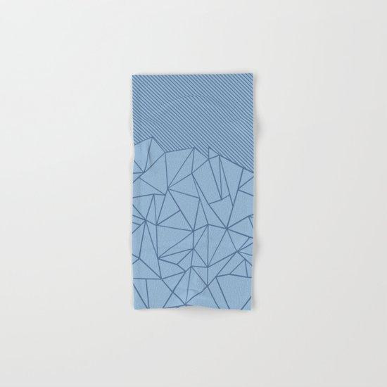 Ab Lines 45 Blues Hand & Bath Towel