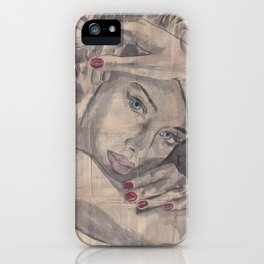 """Ink Painting """"Nelle"""" iPhone Case"""