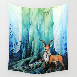 """At the tree's feet"" Wall Tapestry"