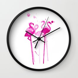 Flamingo Stirrers Wall Clock