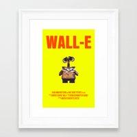 wall e Framed Art Prints featuring Wall-E by FunnyFaceArt