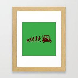 Evolution - golf Framed Art Print