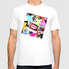 Mood Board White MEDIUM Mens Fitted Tee