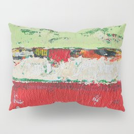 Dixon Red Green Abstract Painting Print Pillow Sham