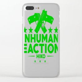 Inhuman Reactions Clear iPhone Case