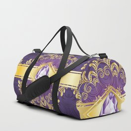 Decorative Background with Amethyst Duffle Bag