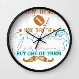 Retro Miami Dolphin Vintages Father's day Wall Clock