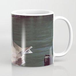 Woman Reading By The Lake (Vintage) Coffee Mug