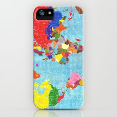 world map iPhone (5, 5s) Slim Case