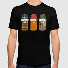 Trio Mens Fitted Tee LARGE Black