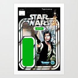 Han Solo Vintage Action Figure Card Art Print