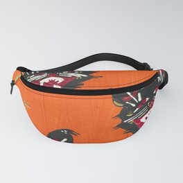 Vintage Halloween Black Cats Fanny Pack