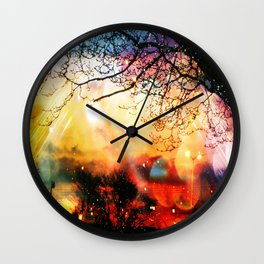 Rainbow Kisses Wall Clock