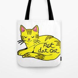 Pet Dat Cat Tote Bag