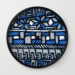 Primitive lino print Wall Clock