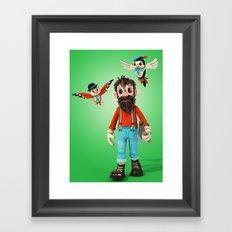 Tin Timber and the Timbirds Framed Art Print