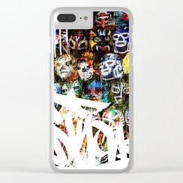 Graffiti Luchadores Clear iPhone Case