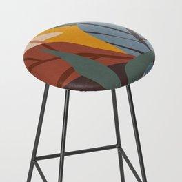 Abstract Art Jungle Bar Stool