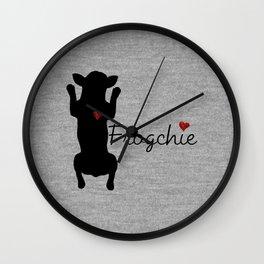 Frogchie French Bulldog Wall Clock