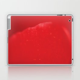 Red flower, macro photography, living room, kitchen, wall art, food, flowers Laptop & iPad Skin