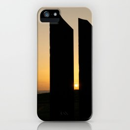 Groynes at Sunset iPhone Case