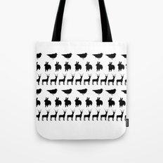 Bunny, reindeer, bird Tote Bag