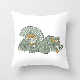 Barcelona dragon Throw Pillow