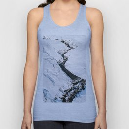 River in winter in Iceland - Landscape Photography Unisex Tank Top
