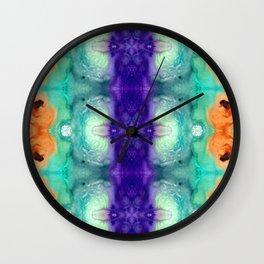 Awakening Spirit - Pattern Art By Sharon Cummings Wall Clock