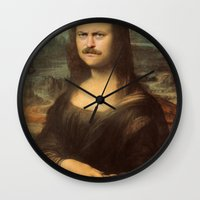 swanson Wall Clocks featuring Mona Swanson by RAOqwerty