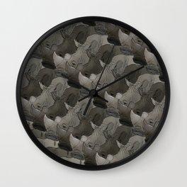 Rhino Heads Wall Clock