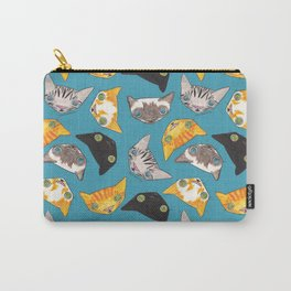 """""""Oro?"""" Cats-Teal Carry-All Pouch"""