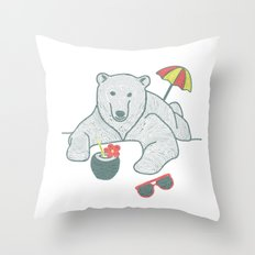 White Summer Throw Pillow
