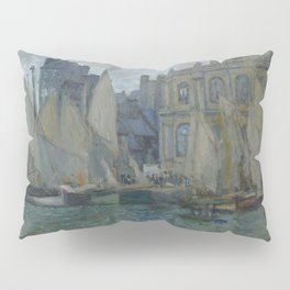 The Museum at Le Havre by Claude Monet Pillow Sham